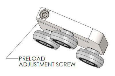 CR40 Carriage Preload Adjustment Screw